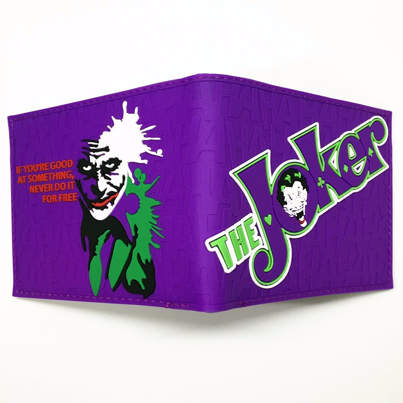 Comics Dc Marvel lovely joker the Avengers Suicide Squad Cartoon Wallet Cute 3D Purse Logo Credit Card Holder Man Wallet comics dc marvel wallet the avengers captain america card bags famous amine cartoon purse leather male casual branded wallets