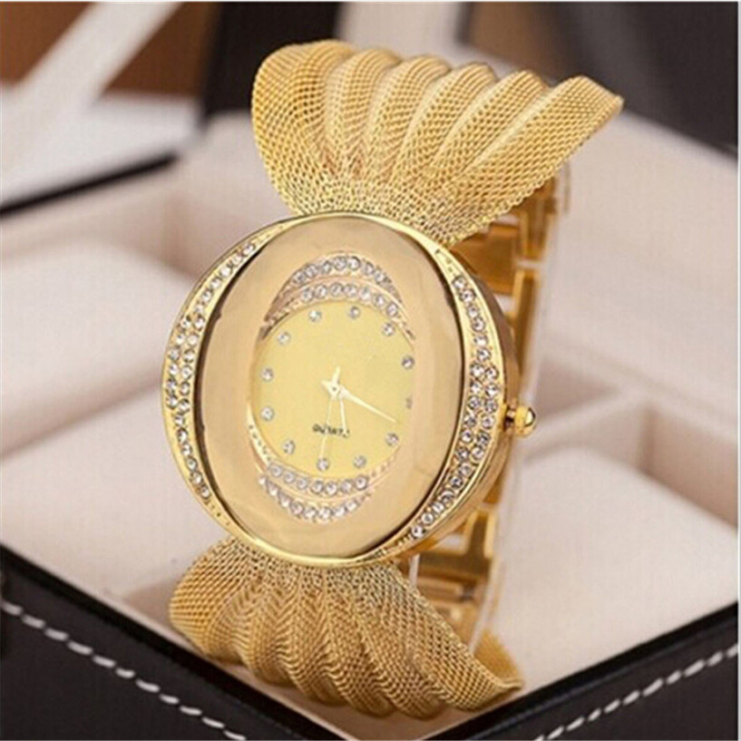 NEW Gold Watch Lady Diamond Bracelet Watch Mirror Luxury Quartz Watch Gold Rhinestone Watches reloj pulsera mujer Drop Shipping new arrival bs brand full diamond luxury bracelet watch women luxury round diamond steel watch lady rhinestone bangle bracelet
