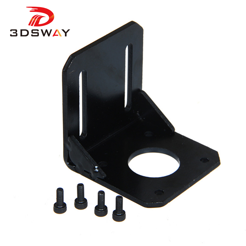 3DSWAY 3D Printer Accessories NEMA 17 Mounting L Bracket 42 Stepper Motor Bracket Steel Motor Mounts Stand With Screws