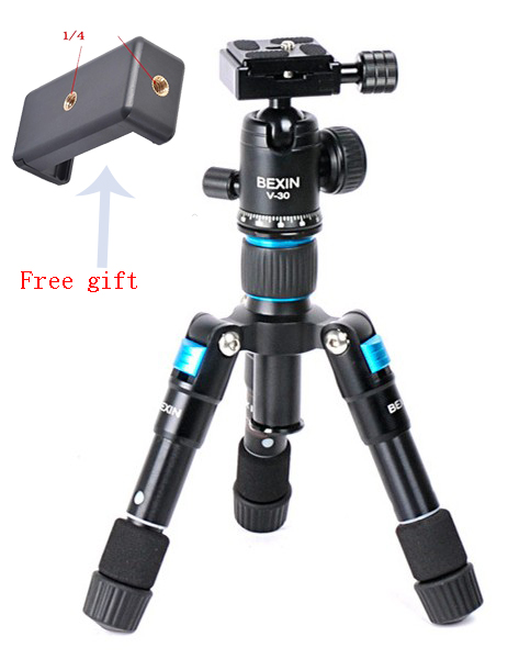 Portable Travel Professional Compact Aluminum Mini Tripod with Ball Head for Digital Camera DSLR Smart Phone image