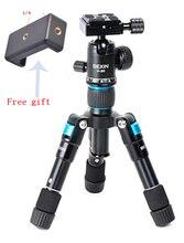 Taşınabilir seyahat profesyonel kompakt alüminyum Mini Tripod top kafa ile dijital kamera DSLR kamera için akıllı telefon
