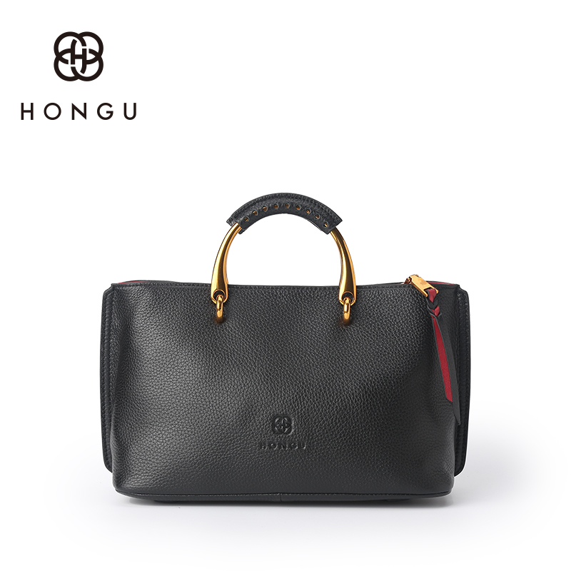купить Hongu Genuine Leather Vintage Tote Luxury Handbags Women Bags Designer Women Famous Brand Lady Shoulder Louis Bags Bolsos mujer недорого