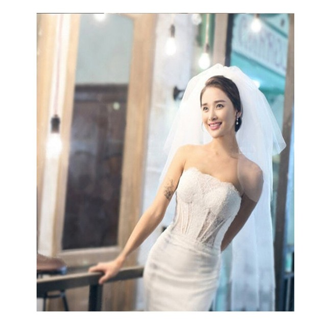 Tulle Three Layer Length 80~100 cm Romantic Crocheted Bridal White And Ivory Simple Wedding Accessories Veils 2016 with comb