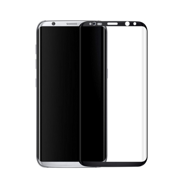 For Samsung Galaxy S8+ Plus 3D Curved Tempered Glass Full Screen Protector Film 0.3mm for Samsung Galaxy S8 Plus G9550 - Black