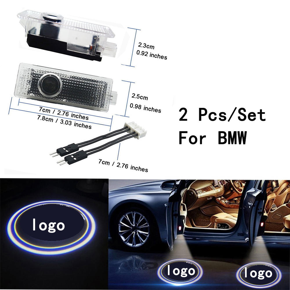 Only For BMW 3/5/6/7/Z/GT/X/Mini Series Weclome Lamp Ghost Shadow Projetor Lens Include LED Courtesy 3W With Logo 2Pcs/Set