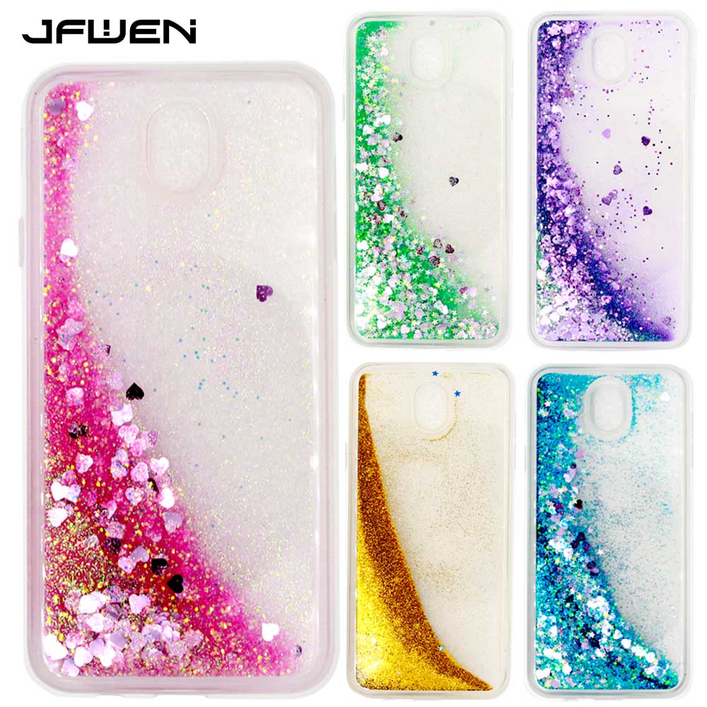reputable site e02ae 881a6 US $4.29 |JFWEN Phone Cases For Samsung Galaxy J7 2017 Case Luxury Liquid  Glitter Hard TPU Silicone For Samsung J7 2017 J730 Case Cover-in Fitted ...