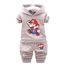 Winter Clothing Sets Boys Girls Clothes Sets Thick Children's Hooded Coats Pants Suits Kids Tracksuits Hoodies Sweater Trouser