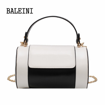 New Fashion PU Leather Women Bag Autumn Women Shoulder Bags Cylindrical Designer Handbags High Quality Famous Brands Tote Bag women handbags famous brands women bags purse messenger shoulder bag high quality ladies luxury top women lattice bag 2020