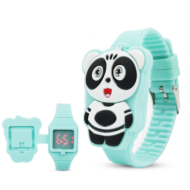 FDA Certification Silicone Watch Suitable 3-13 Year Children's LED Electronic Clock Food Grade Silicone Kids Boy Girl Children