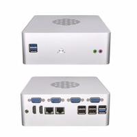 6 Gigabit LAN мини компьютера сервера, DDR4 Оперативная память, M.2 SSD, посвященный Процессор G3930, VGA, RS232 дополнительно Q615G6