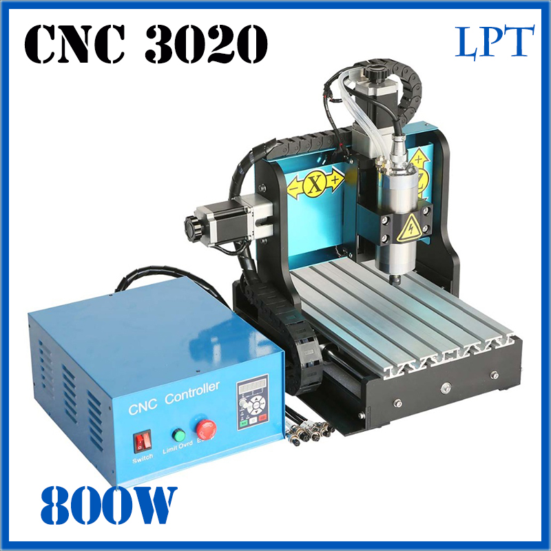 JFT CNC Router 3020 800W 3 Axis Parallel Port High Efficient Engraving Cutting Machine With Ball Screw For Wood Metal Aluminum jft high precision cnc router cutting machine 300w spindle motor 4 axis cnc engraver with lpt port 3020