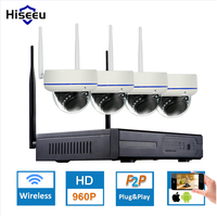4CH 960P HD Wireless CCTV System Dome Powerful WIFI NVR IP Camera IR CUT CCTV Camera