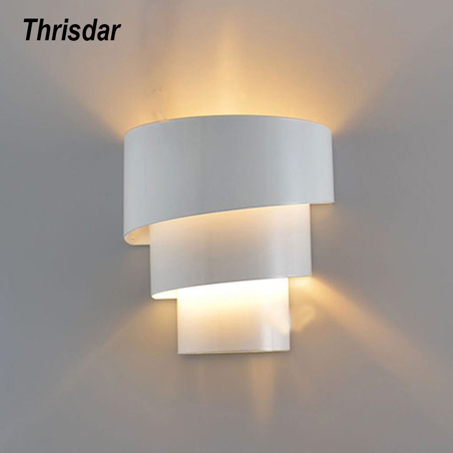 Thrisdar Modern Led Wall Lamp Spiral Home Lighting Decorative Lighting Bedroom Bedside Lamp Indoor Stair Wall Lighting Wall Lamps Aliexpress