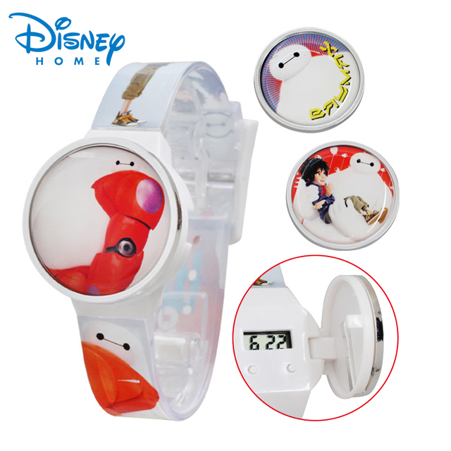 100% Genuine Disney Brand watches Big Hero 6 Baymax cartoon Watch relogio feminino Digital hand clocks 89004-95