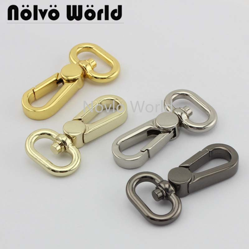 Wholesale 500pcs,4 Colors Accept Mix Color, 50*19mm 3/4 Inch, Metal Trigger Snap Hook Handbag Lobster Buckle Swivel Clasp Hooks