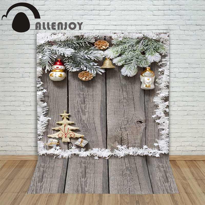 Christmas children's photo background Wooden xmas tree bells Snowman backdrop photography vinyl shoots camera holiday christmas background for photos pure white snowman pine cones backdrop photography children s photo shoots customize photocall