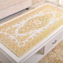 PVC Hot Stamping Waterproof and Oilproof Tablecloth lace tablecloth round manteles para mesa rectangulares en tela