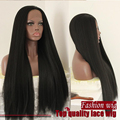 Yaki Straight Synthetic Lace Front Wigs Light Italian Yaki Synthetic Lace Front Wigs Heat Resistant Fiber Glueless Lace Wigs