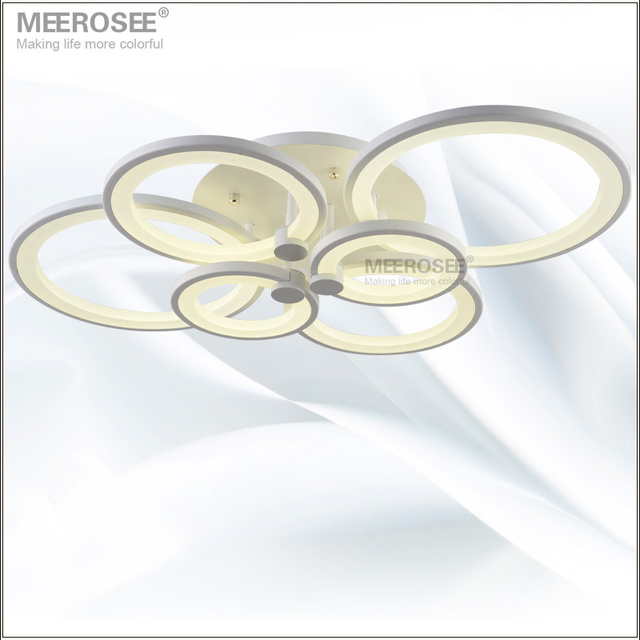 White LED Ring Light Fixture LED Chandelier Lustre Light Large Flush Mounted LED Circles Lamp for dining sitting bedroom
