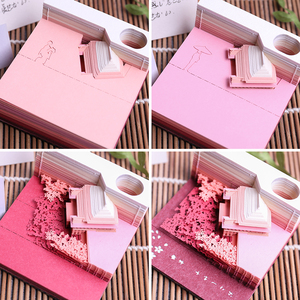 Image 5 - Creative Lovely Notepad Architectural Creative Paper Carving Note Memo Pad Plaid Paper Ancient Style LOVE Gift birthday Gift
