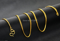 Hot sale Pure 999 24K Yellow Gold Necklace / Curb Link Chain Necklace / 3.82g