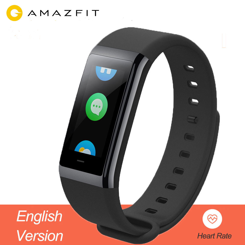 """Xiaomi Huami Amazfit Cor English Version Midong Band Smart Wristband 1.23"""" Screen Heart Rate Monitor Waterproof Calories records-in Smart Wristbands from Consumer Electronics    1"""