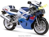 Лидер продаж, для Suzuki SRAD GSXR600 GSXR750 96 97 98 99 00 GSXR 600/750 1996 1997 1998 1999 2000 сине белые ABS мотоцикл обтекатель
