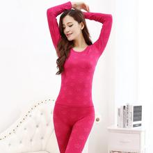 Women's Bodysuit Thin Set Modal Cotton Long Johns Tight Slim Winter Warm Thermal Underwear Ladies Seamless Ropa Interior Mujer