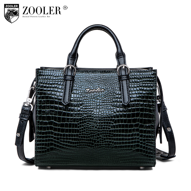 New 2018 ZOOLER BRAND Genuine Leather handbag casual woman bags Shoulder bag cowhide large capacity top handle bag brand #C158 new product sales zooler brand zipper cowhide bag top handle shoulder bag simply solid genuine leather bag women bag bolsas c108