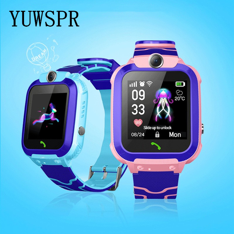 New Children Tracker Watch Q12 LBS Waterproof Camera IOS Android Multifunction Digital Wristwatch Kids Gift Q12 TD27