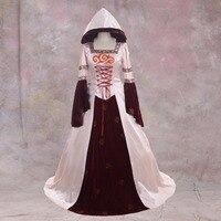 CosplayDiy дамы викторианской аристократ бальное платье вампира Розовый Велет платье Костюм Готический Вечеринка вампира платье