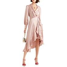 b0a97cbefca3 Großhandel satin wrap dress Gallery - Billig kaufen satin wrap dress ...