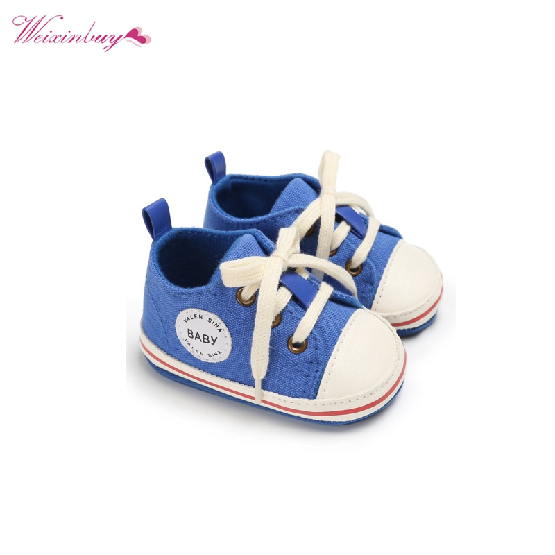 Baby Shoes 2017 Infant first walkers Tollder Canvas  Shoes Lace-up Baby Girls Sneaker Prewalker 0-18M стоимость