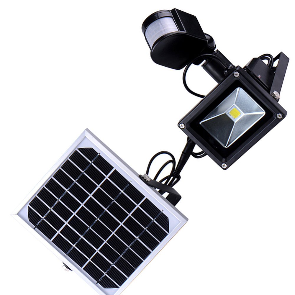 10w outdoor solar led flood lights garden lamparas pir - Lamparas solares de led ...