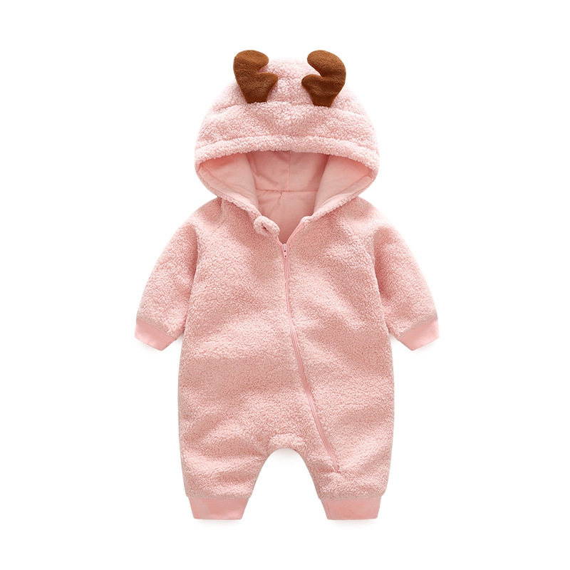 2018 spring Lovable Deer Lamb baby romper fleece baby clothes 1th birthday gift soft new ...