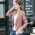 Slim Women Blazers Large Size 3XL 4XL Small Suit Female 2017 Spring Women 's Leisure Suit Jacket Long - Sleeved  Blazer  Female