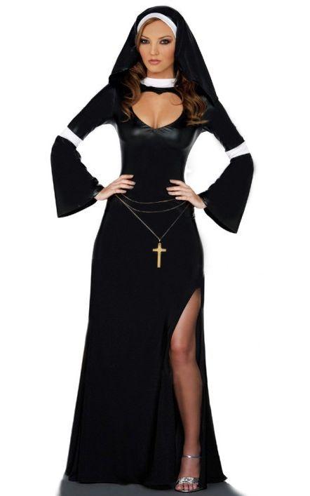 Nun Costume Adult Halloween Fancy Dress
