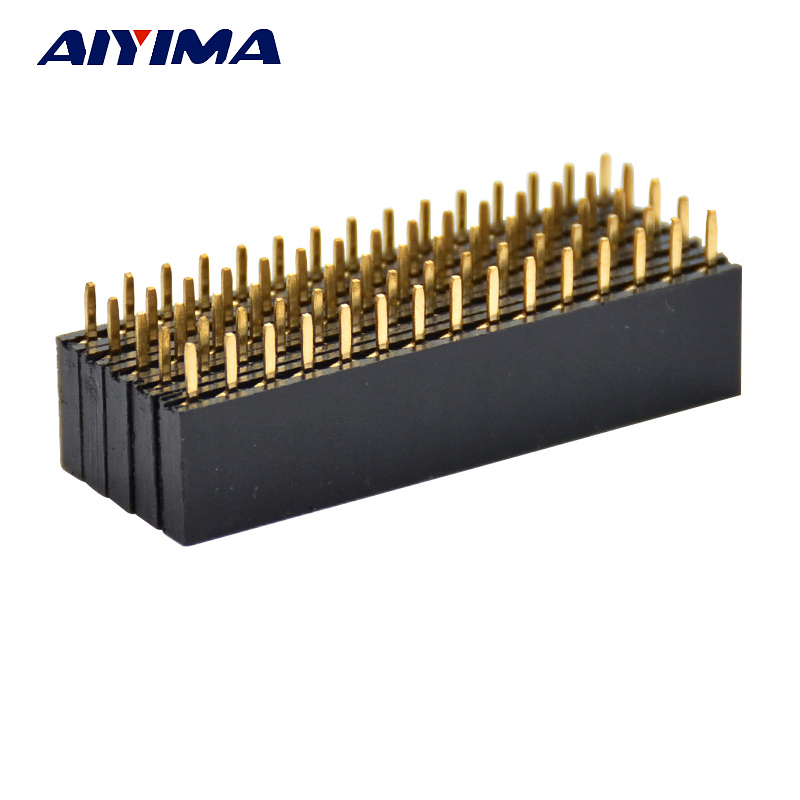 AIYIMA 50pcs 15Pin 2.54mm Single Row Female Connectors Straight Pitch Header Socket PCB Strip Connector Board On Board Inserts 722821 501 722821 001 722821 601 free shipping laptop motherboard fit for hp probook 455 g1 series notebook pc system board