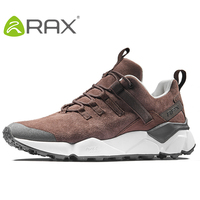 RAX New Men's Hiking Shoes Leather Waterproof Cushioning Breathable Shoes Women Outdoor Trekking Backpacking Travel Shoes Men