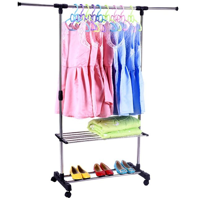 garment dp tweed zipper commercial racks z in with home ac vinyl cover grade amazon clear for com rack