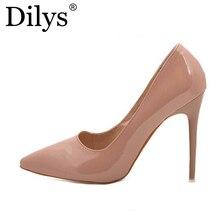 Hot OL Office Lady Clásicos Mujeres Estilete Atractivo de los Altos Talones Bombas zapatos de Punta estrecha Zapatos Rojo Negro Zapatos de Fiesta de La Boda de Corte 41