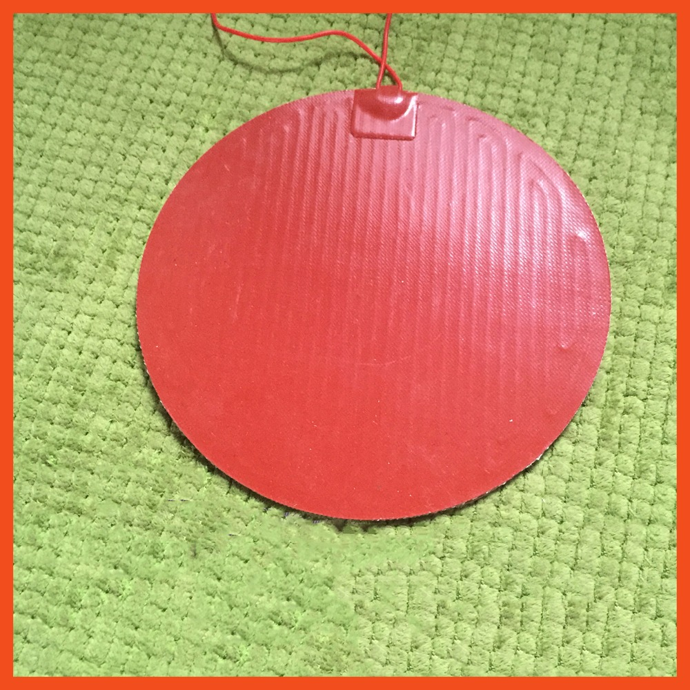 Silicone heating pad heater 220V 250W Diz 300mm 1.14A for 3d printer circular heat bed 1pcs oil pan silicone heater silicone heating plate heater 12v 150w 155mmx230mm for 3d printer heat bed 1pcs oil heater silicone heater flexible heating