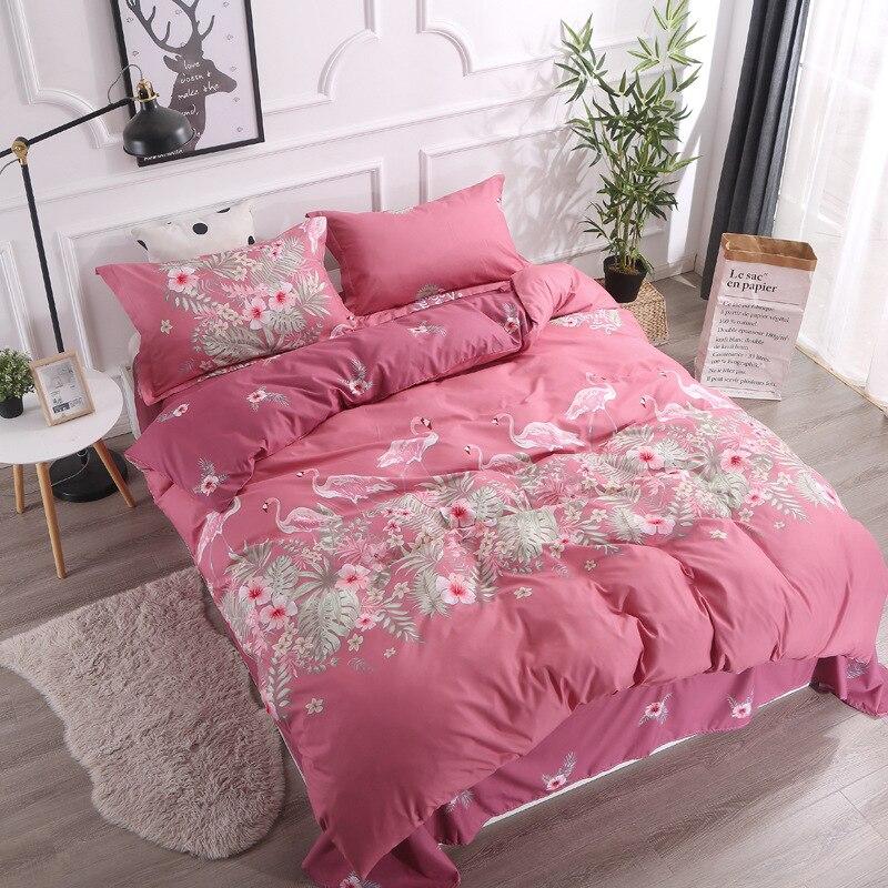 Z Jian Home Simple White Bedding Sets Strip Geometric Children 39 s Beddingset Bed Linen Duvet Cover Bed Sheet Pillowcase bed Sets in Bedding Sets from Home amp Garden