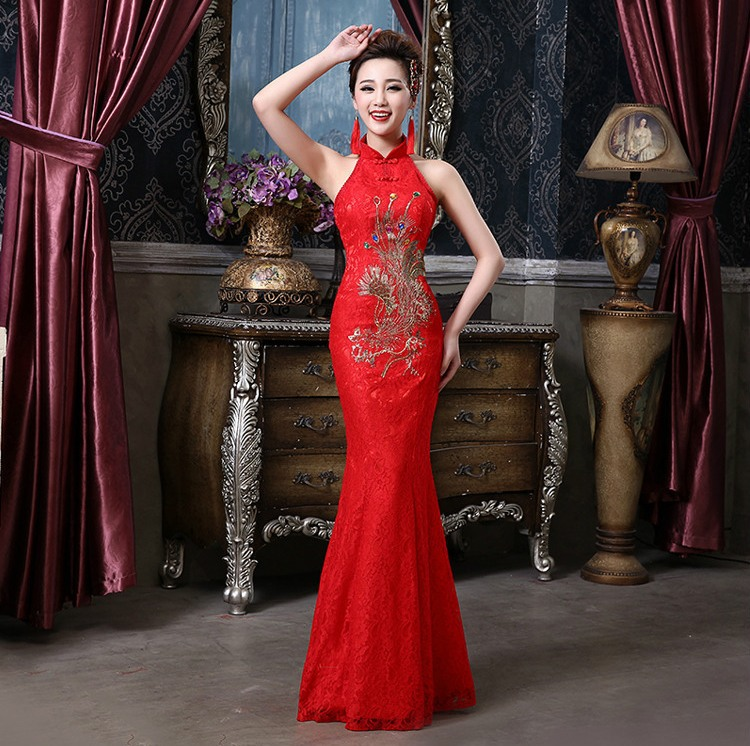 Shanghai Story Bridesmaid Dresses Vintage Halter Mermaid Qipao Wedding Dress Chinese Cheongsam Y Arel The Style