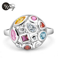 Personalized Special Unique Marquise Birthstone Ring 925 Sterling Silver Fashion Mother Birthstone Rings Size 4 12