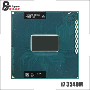 Intel Core i7-3540M i7 3540M SR0X6 3.0 GHz Dual-Core Quad-Thread CPU Processor 4M 35W Socket G2 / rPGA988B