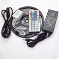 LED Strip 5M 300LEDs 3528SMD Waterproof IP65 RGB LED Neon Light Magic Color + 44Key Remote Controller + 3A Power Supply