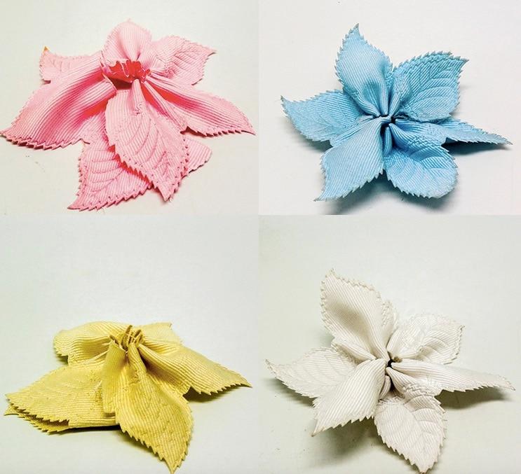 4colors 10yards Leaves Flower Pull Bow Ribbon For Jordan Almonds