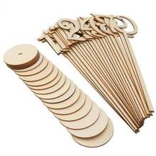 20Pcs/set Wedding birthday table number wedding cards table restaurant wooden table numbers stand party supplies(China)
