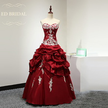 Sweetheart Taffeta Vintage Evening Dress with Pick Up and Lace Appliques Women Formal Evening Gown robe de soiree